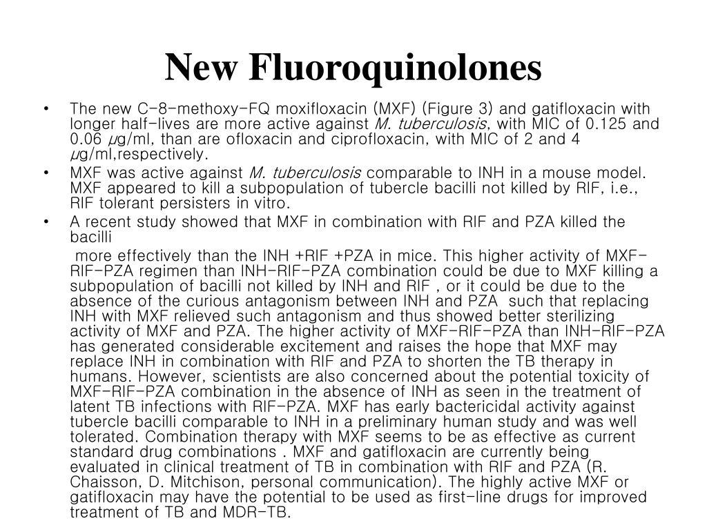 New Fluoroquinolones