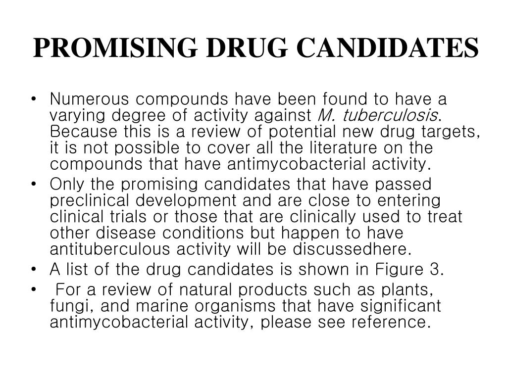 PROMISING DRUG CANDIDATES