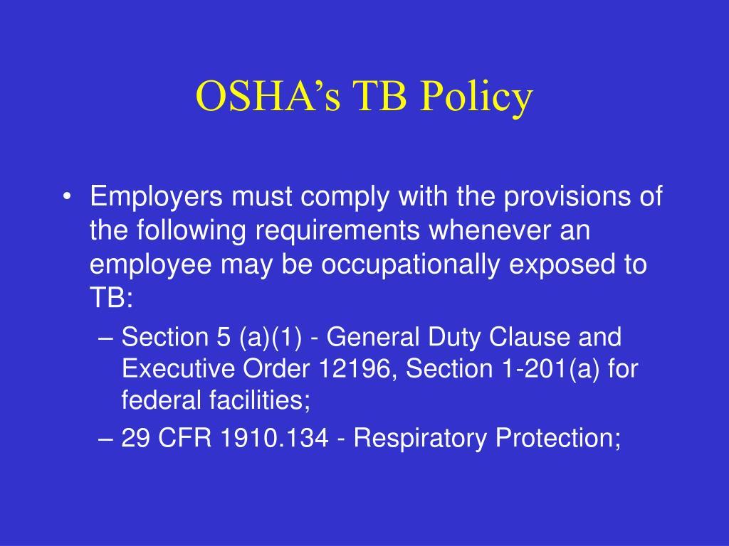 OSHA's TB Policy