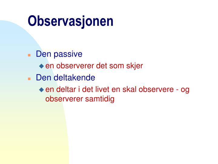 Observasjonen