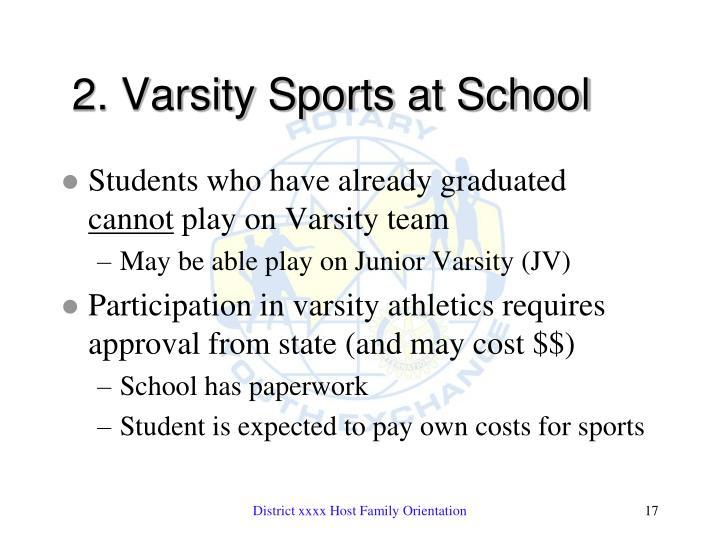 2. Varsity Sports at School