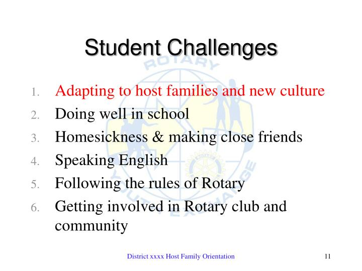 Student Challenges
