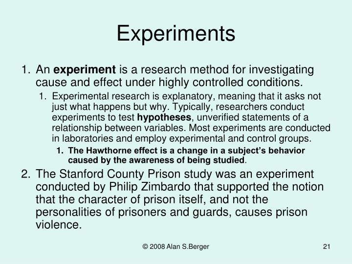 the hawthorne effect and stanford priso From prison to home: the effect of incarceration and reentry on children, families,  the past and future of us prison policy: twenty-five years after the stanford prison experiment, american psychologist, 53, 709-727 (1998), and the references cited therein 3.
