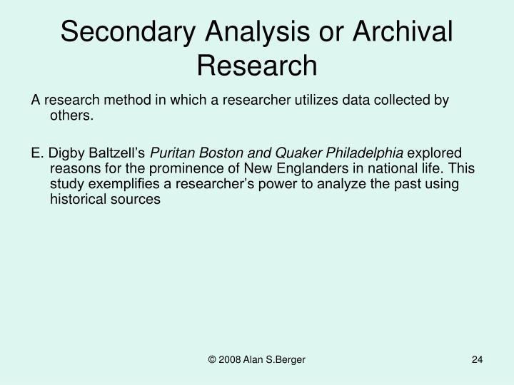 secondary data dissertation methodology