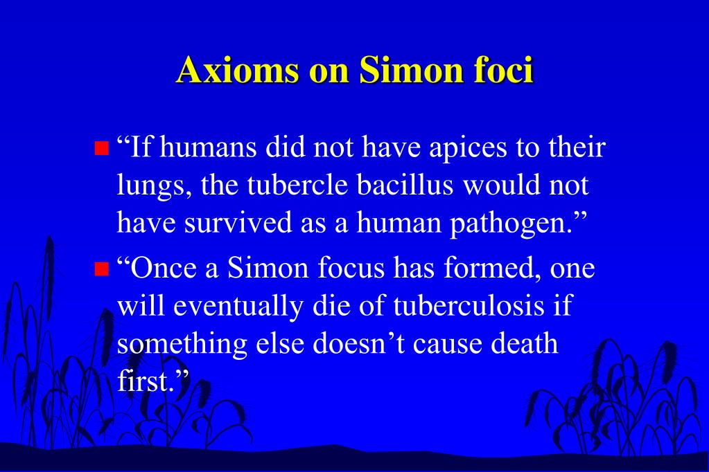Axioms on Simon foci