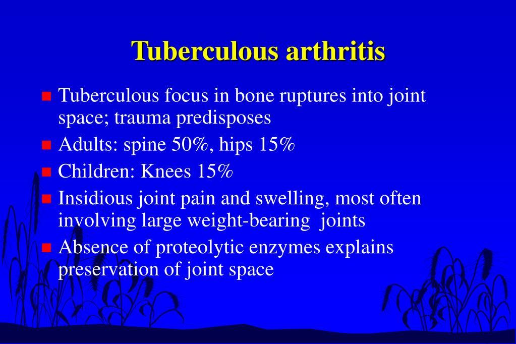 Tuberculous arthritis