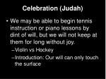 celebration judah