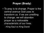 prayer brady