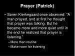 prayer patrick