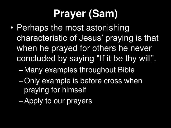 Prayer (Sam)
