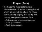 prayer sam