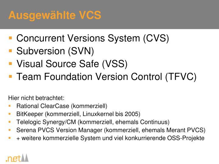 Ausgewählte VCS