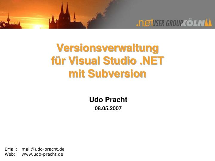 Versionsverwaltung f r visual studio net mit subversion