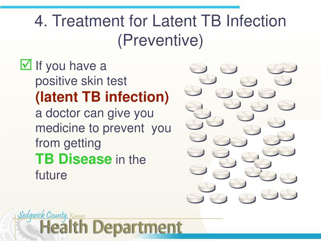 4. Treatment for Latent TB Infection (Preventive)