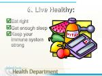6 live healthy