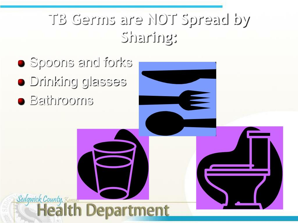 TB Germs are NOT Spread by Sharing: