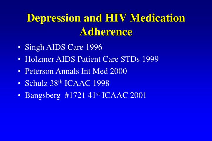 Depression and HIV Medication Adherence
