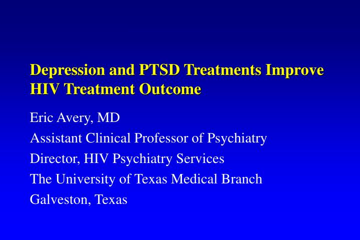 Depression and PTSD Treatments Improve HIV Treatment Outcome
