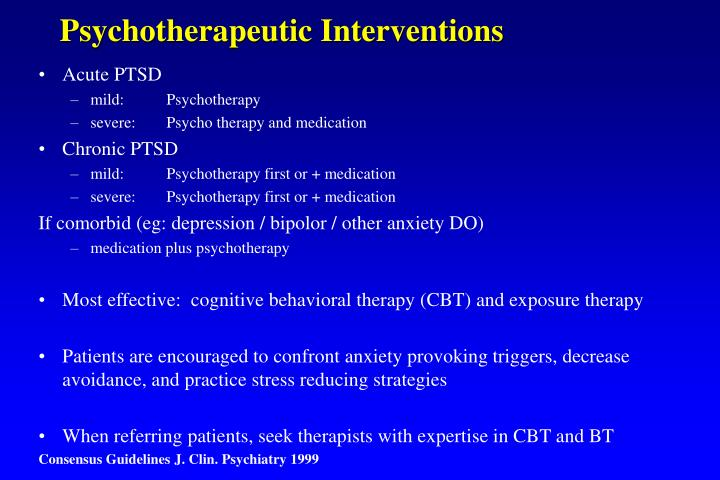 Psychotherapeutic Interventions