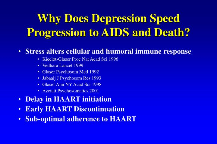 Why Does Depression Speed Progression to AIDS and Death?