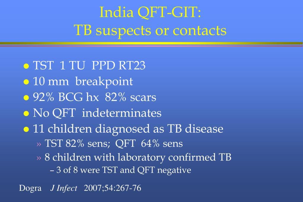 India QFT-GIT: