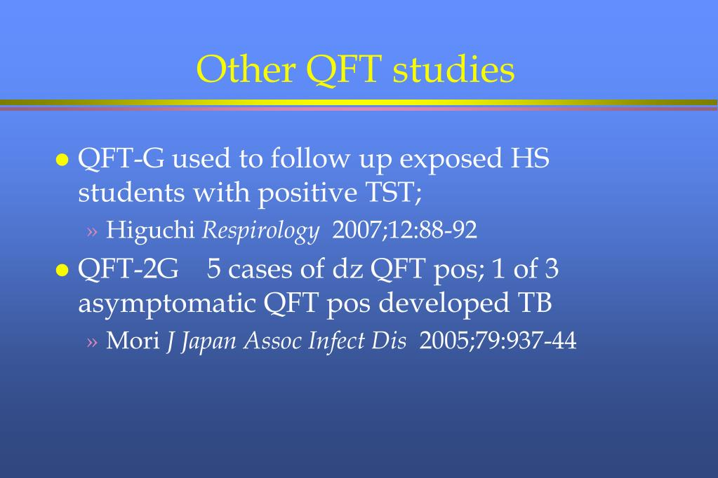 Other QFT studies