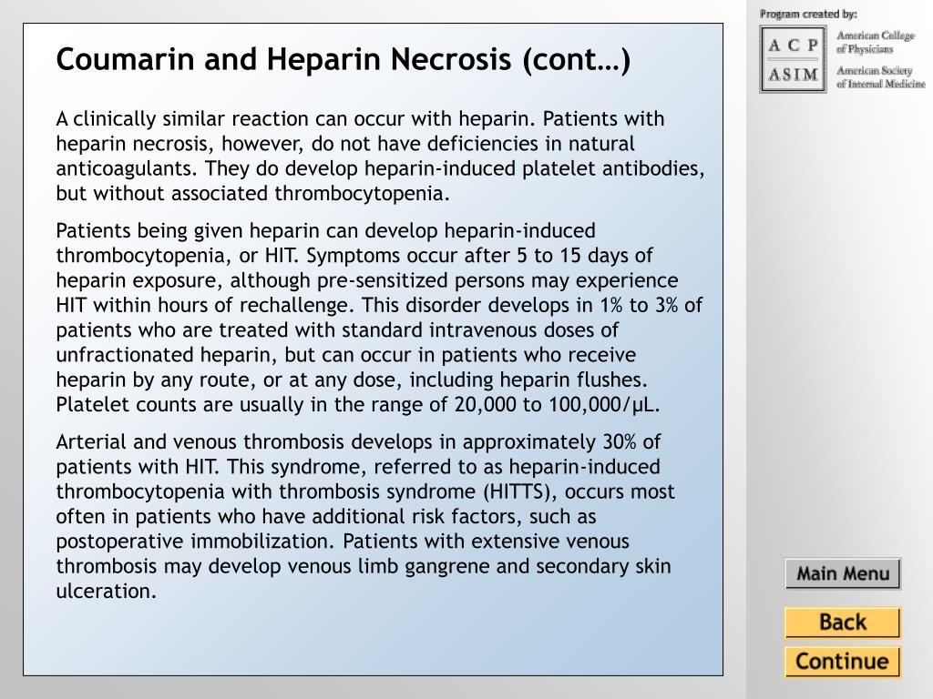 Coumarin and Heparin Necrosis (cont…)