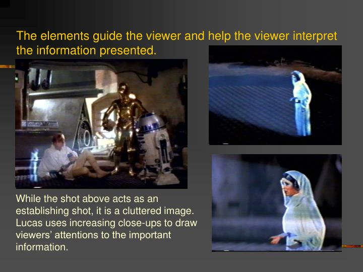 The elements guide the viewer and help the viewer interpret the information presented