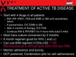 treatment of active tb disease