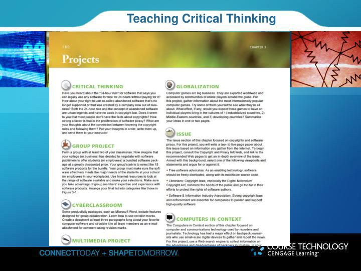 critical thinking in education powerpoint presentation Powerpoint presentation conveys to students that there are only two types of or engage in critical thinking how powerpoint is killing education.