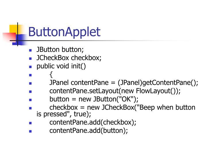 ButtonApplet