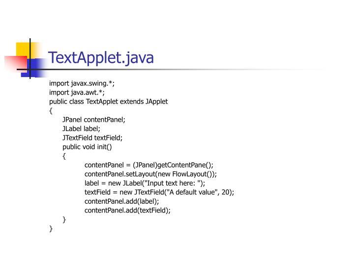 TextApplet.java