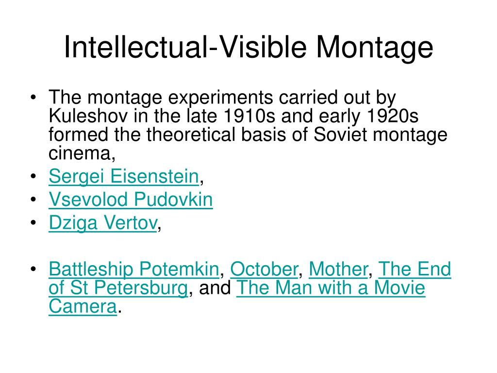 Intellectual-Visible Montage