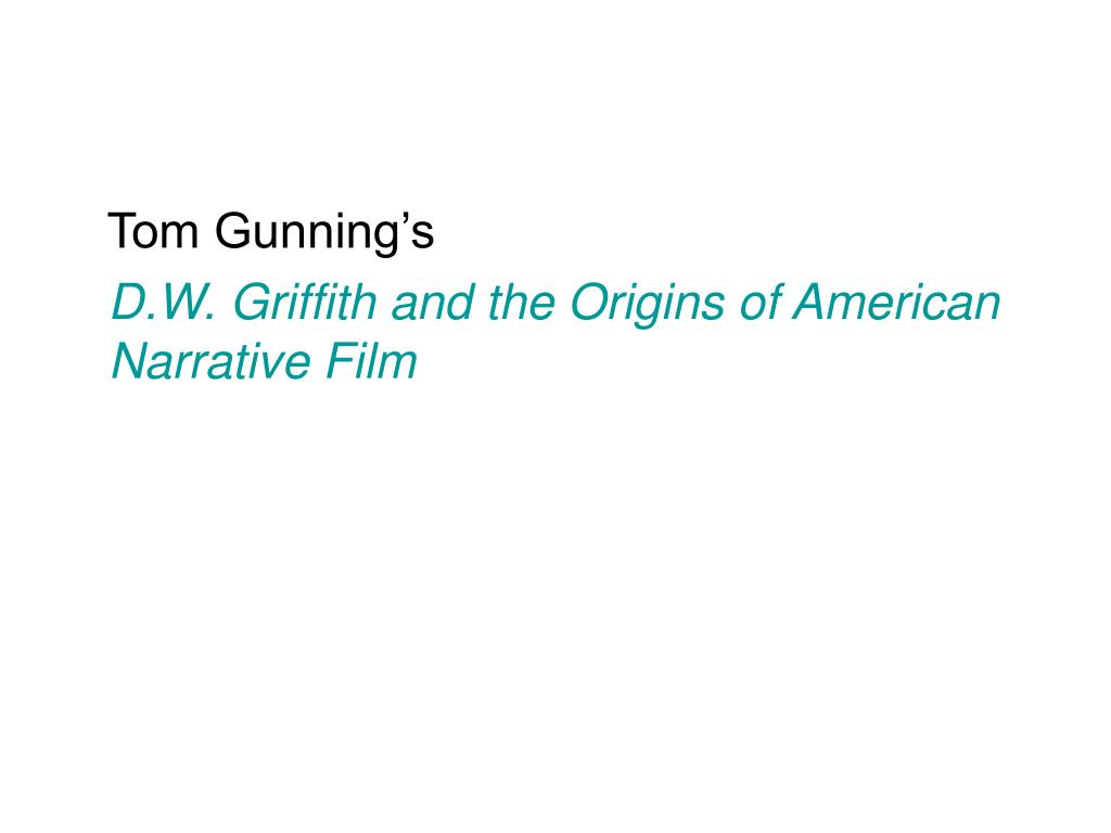Tom Gunning's