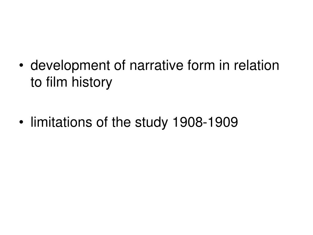 development of narrative form in relation to film history