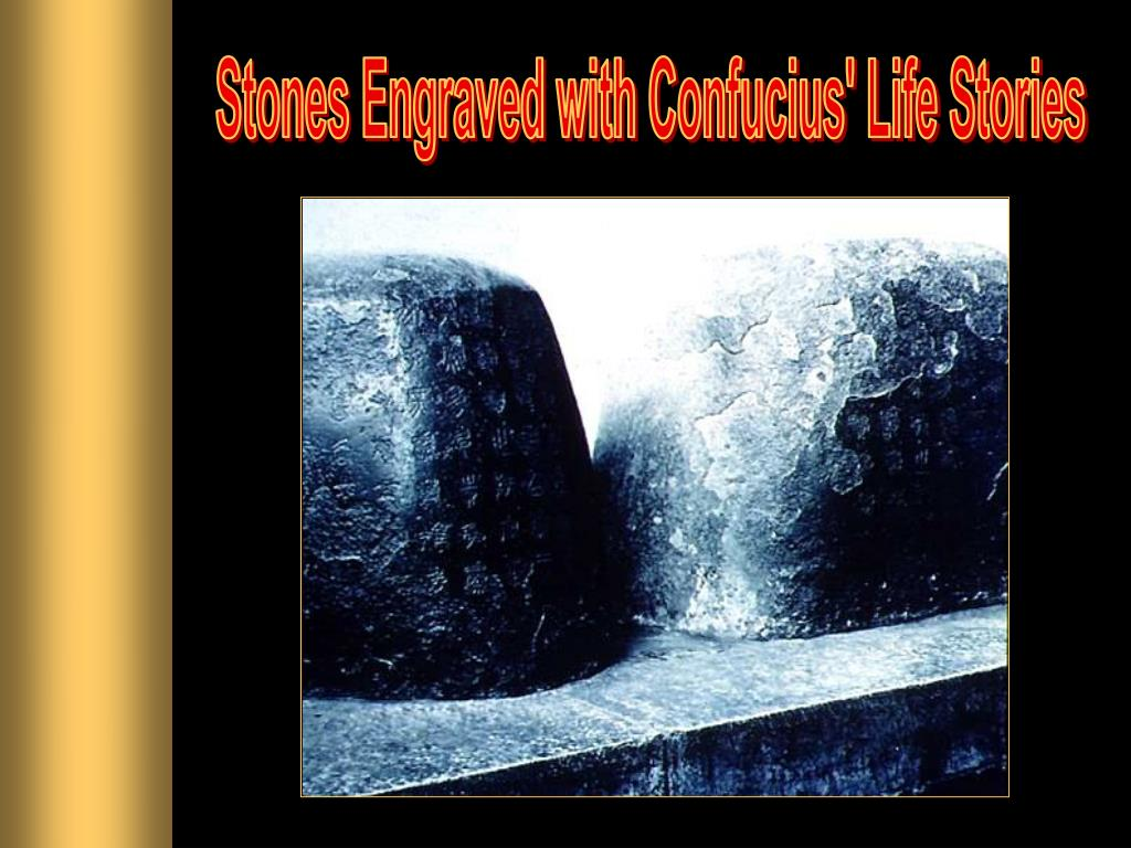 Stones Engraved with Confucius' Life Stories