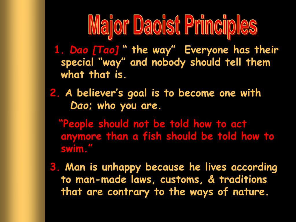 Major Daoist Principles