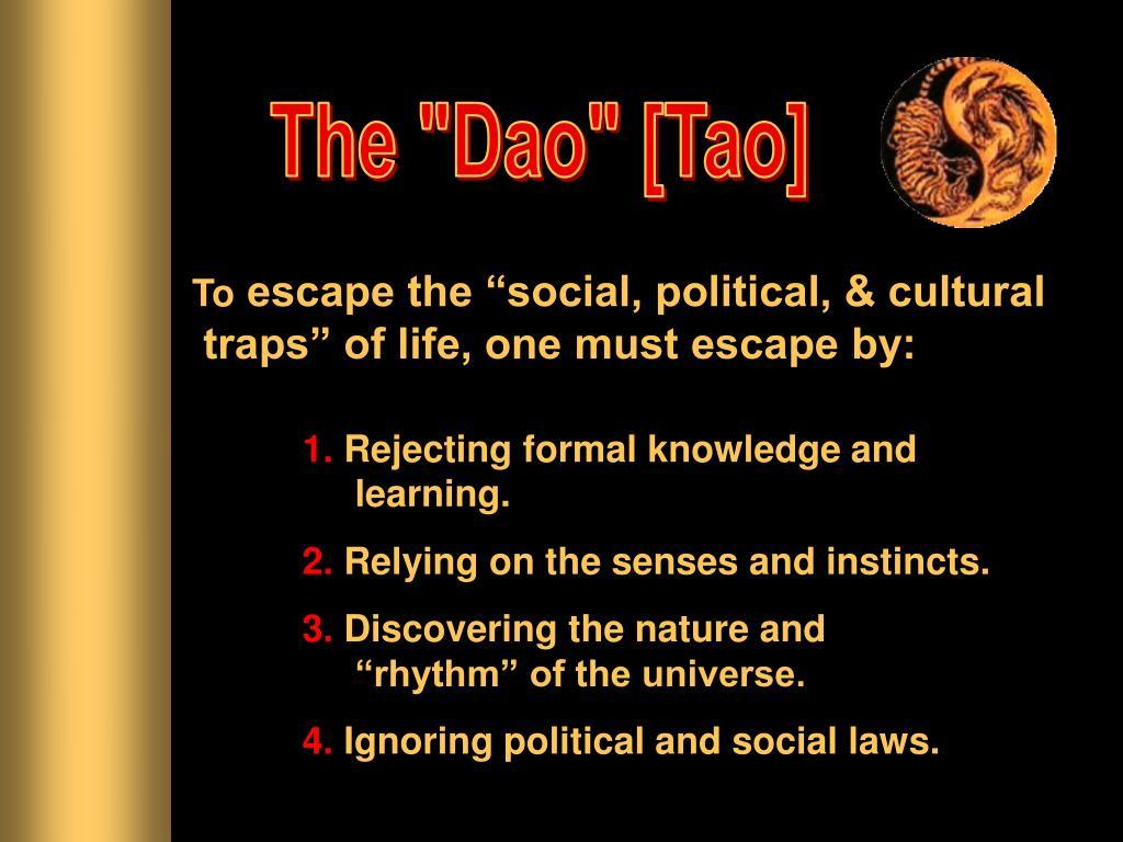 """The """"Dao"""" [Tao]"""
