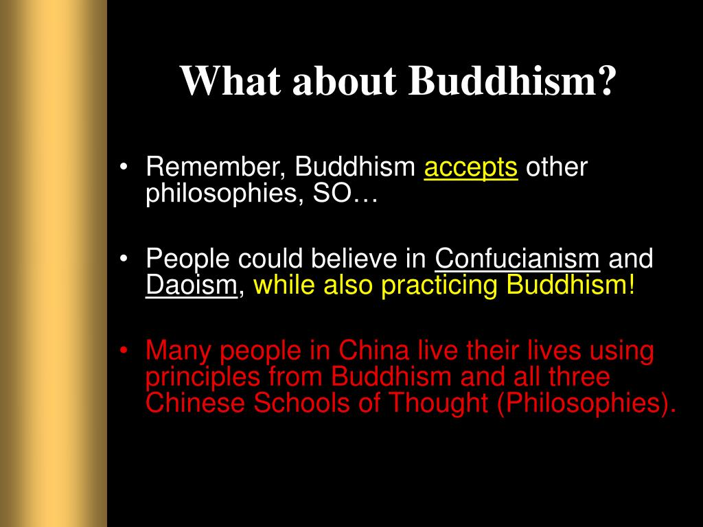 What about Buddhism?