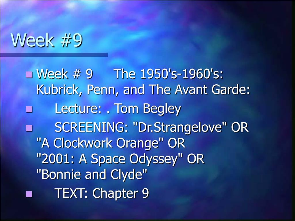 Week #9