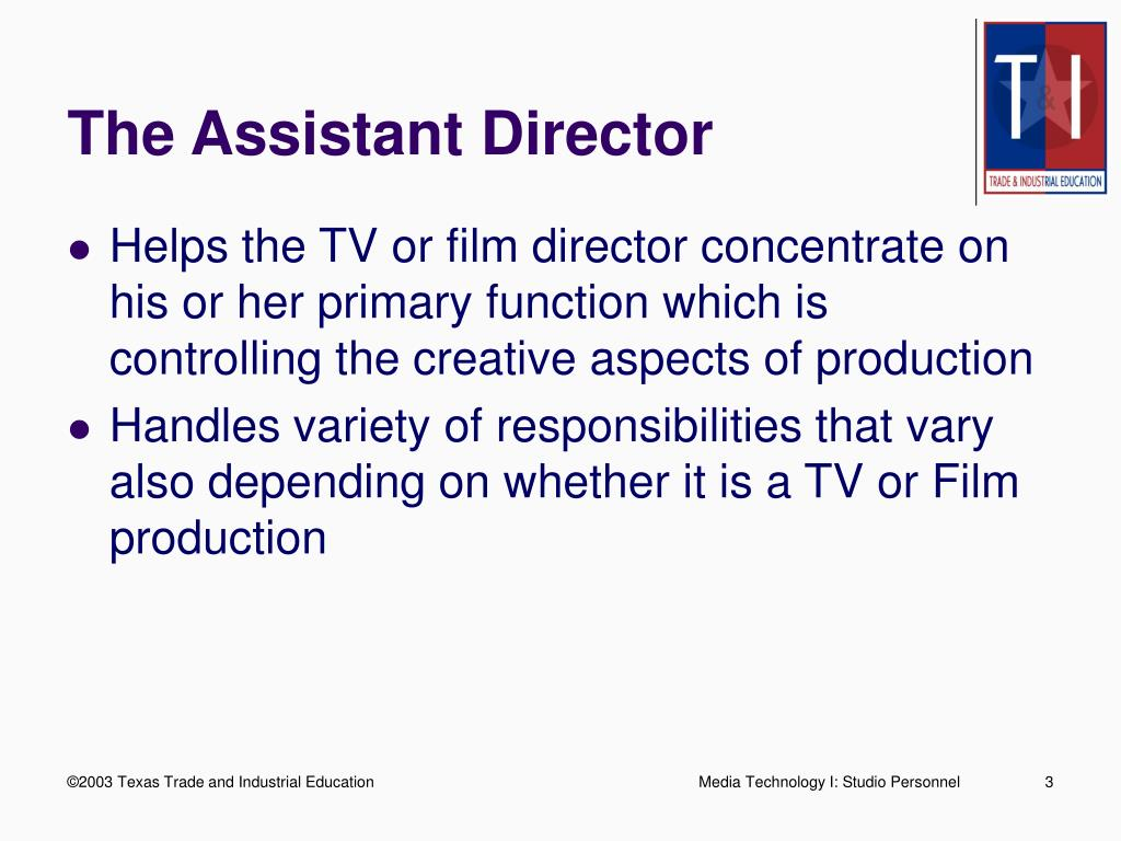 The Assistant Director