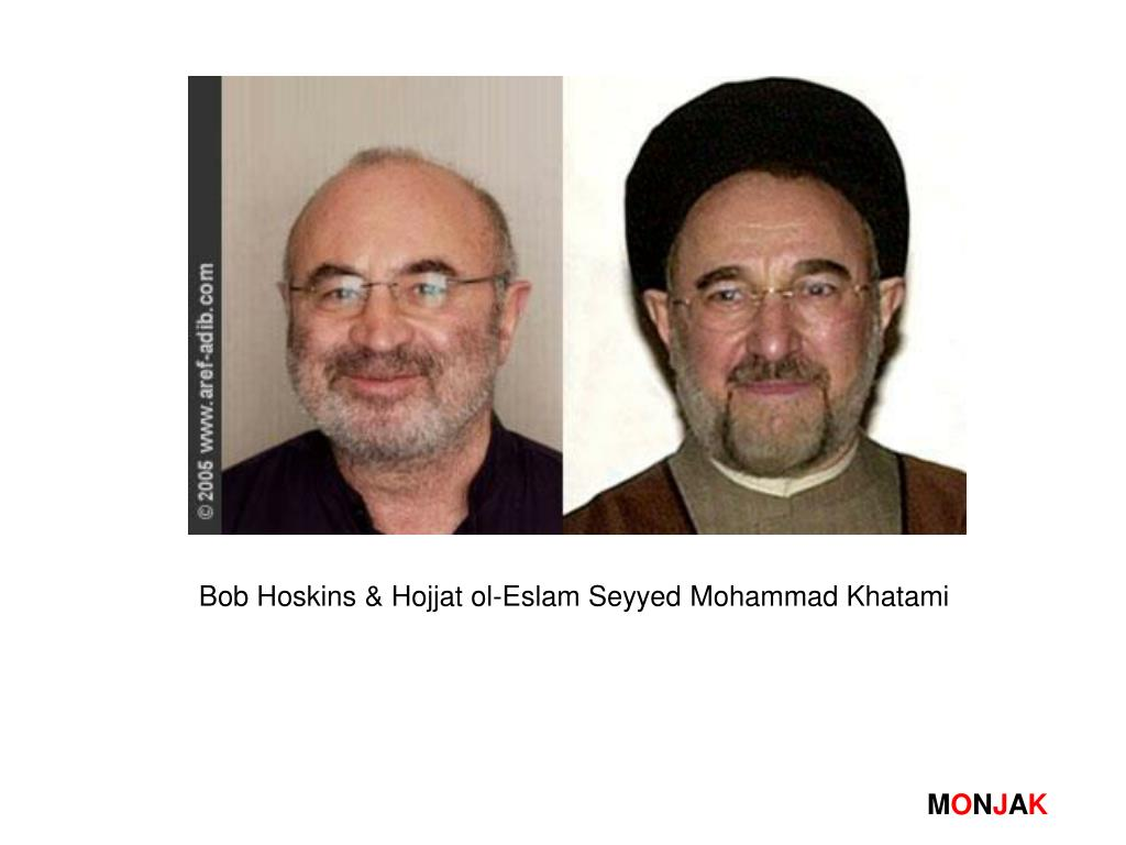Bob Hoskins & Hojjat ol-Eslam Seyyed Mohammad Khatami