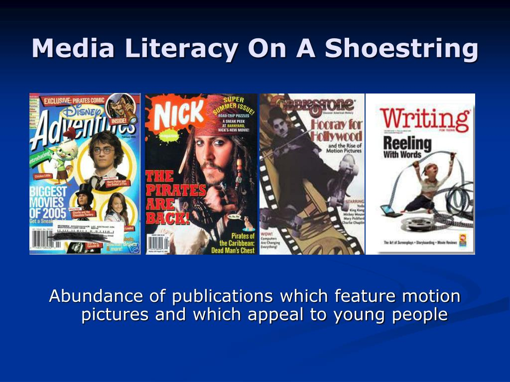 Media Literacy On A Shoestring