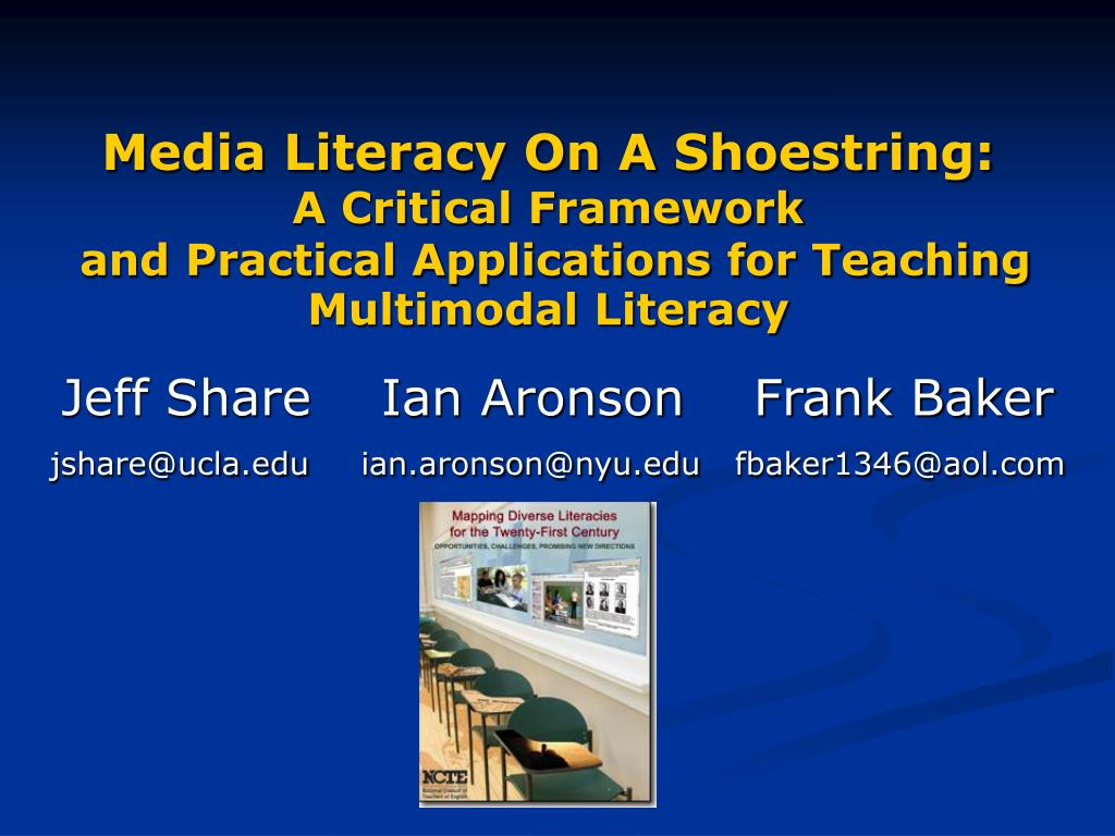 Media Literacy On A Shoestring: