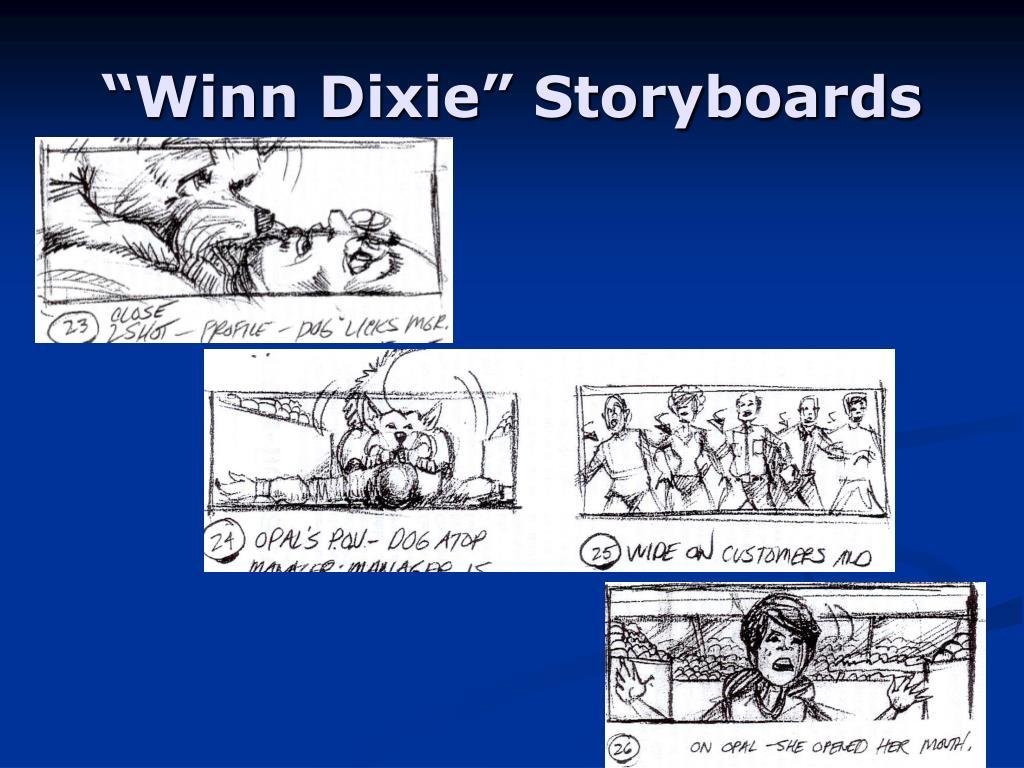 """Winn Dixie"" Storyboards"