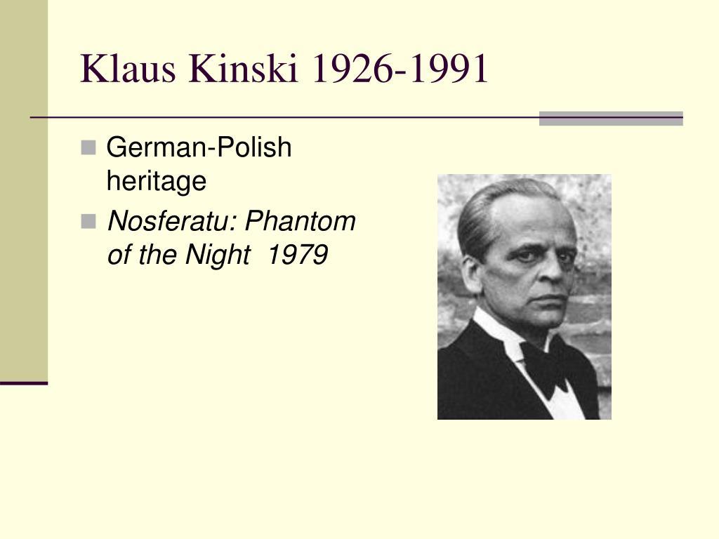 Klaus Kinski 1926-1991