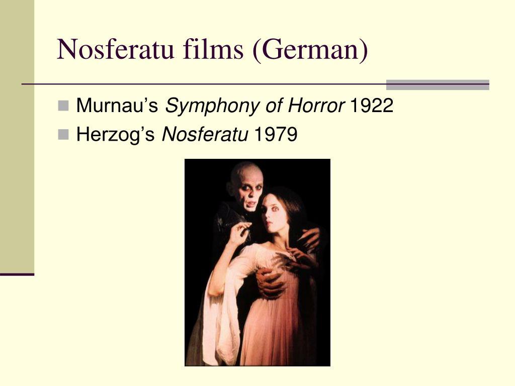 Nosferatu films (German)