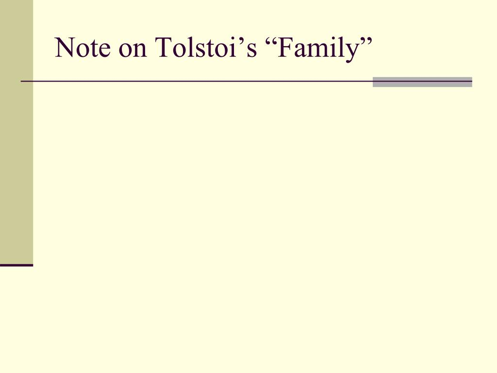 "Note on Tolstoi's ""Family"""