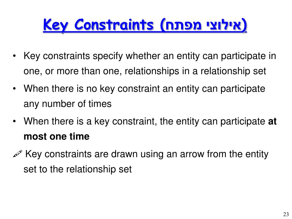 Key Constraints (