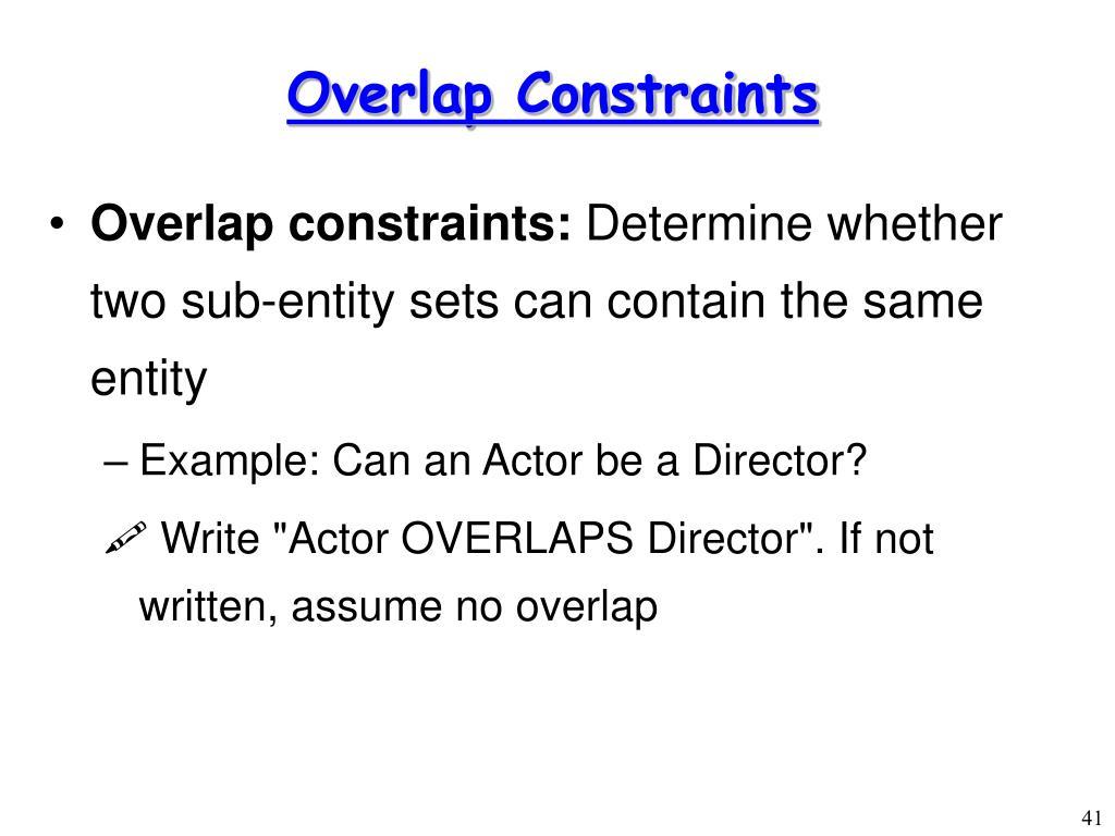 Overlap Constraints